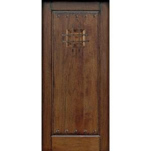 Main Door Rustic Mahogany Type Prefinished Distressed Solid Wood Speakeasy Entry Door Slab SH 901 RUSTIC