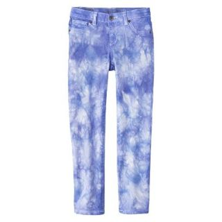 Girls Tye Dye Print Skinny Jean   Bright Blue 8