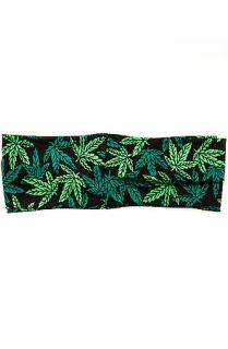 Gold Saturn Turban Mary Jane in Green