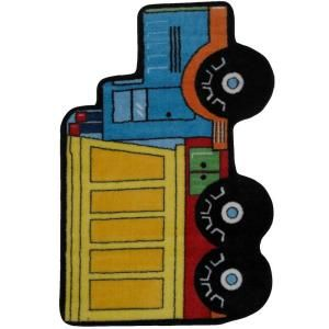 LA Rug Inc. Fun Time Shape Dump Truck Multi Colored 31 in. x 47 in. Accent Rug FTS 132 3147