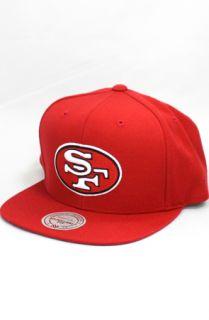 123SNAPBACKS San Francisco 49ers Logo Snapback HatRed