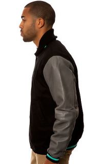 Diamond Supply Co. Jacket Varsity Jacket Black, Gray, and Diamond Blue