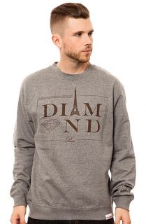 Diamond Supply Co. Sweatshirt Paris Crewneck in Grey