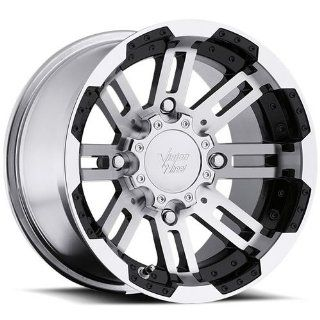 Vision Warrior 14 Machined Black Wheel / Rim 4x110 with a 10.2mm Offset and a 86 Hub Bore. Partnumber 375 148110BW4: Automotive