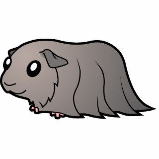 Cartoon Guinea Pig (silver) Photo Cut Out