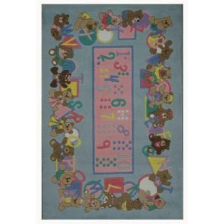 LA Rug Inc. Supreme, Teddies & Letters, Multi Colored 39 in. x 58 in. Area Rug TSC 057 3958