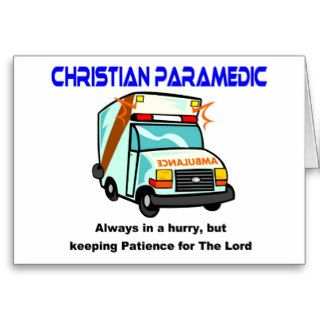 Christian Paramedic religious gift Cards