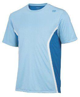 Wilson Men`s Claim Victory Tennis Crew Clear Blue Xxlarge : Tennis Shirts : Sports & Outdoors