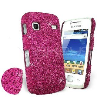 Celicious Magenta Fine Sparkle Glitter Back Cover Case for Samsung Galaxy Gio S5660: Electronics