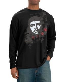 The Che Guevara Store Men's Long Sleeve Black   Revolution Distress: Novelty T Shirts: Clothing