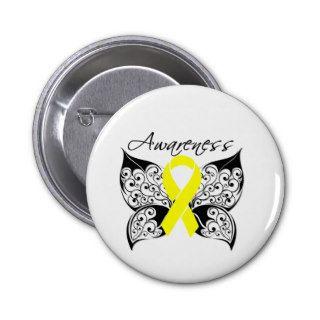 Tattoo Butterfly Awareness   Bladder Cancer Pin