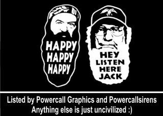 "Duck Dynasty Phil Robertson Uncle Si Decal Decal/Sticker 6"" White: Everything Else"