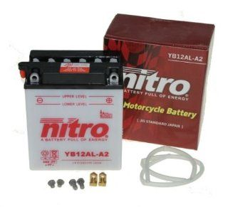 Batterie YB12AL A2 12V 12AH inkl. Säure Aprilia Atlantic 125, 200, 250, 300, BMW F 650 GS, Honda CB 450, 1100 R, Kawasaki ZXR 750, Peugeot Elyseo 125 (inkl. 7,50 Euro Batteriepfand): Auto