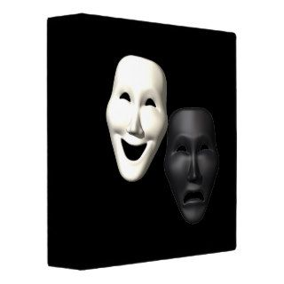 Comedy Tragedy Masks Vinyl Binders