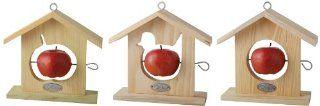 Esschert Design Vogelhaus, Vogelfutterhaus mit Dach aus Holz, ca. 19 cm x 5,8 cm x 20 cm Garten
