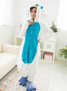Neu Einhorn Kigurumi Onesie tierkostüme erwachsene Halloween Kostüm Tier Pyjama mit Kapuze Nachtwäsche blau (L(für Höhe 168 176cm)): Sport & Freizeit