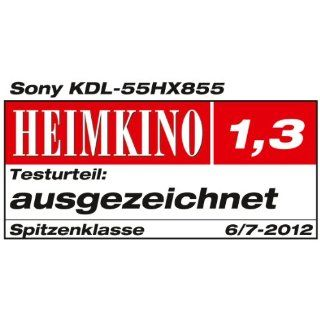 Sony Bravia KDL55HX855 140 cm (55 Zoll) 3D LED Backlight Fernseher, EEK A (Full HD, Motionflow XR 800Hz, DVB T2/C2/S2, Internet TV, Monolith Air Design) schwarz inkl. James Bond Jubiläums Collection auf Blu ray Heimkino, TV & Video
