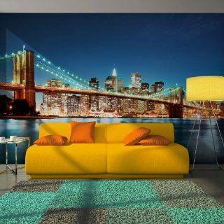 Vlies Tapete  Top  Fototapete  Wandbilder XXL  250x193 cm  New York  100404 125 Küche & Haushalt