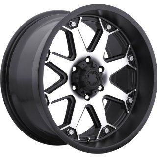 Ultra Bolt 17 Machined Black Wheel / Rim 8x6.5 with a 20mm Offset and a 125 Hub Bore. Partnumber 198 7882U: Automotive