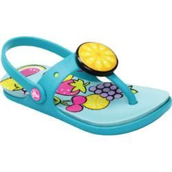 Girls' Crocs Reina Wild Fruit Flip Flop Sea Foam/Surf Crocs Slip ons