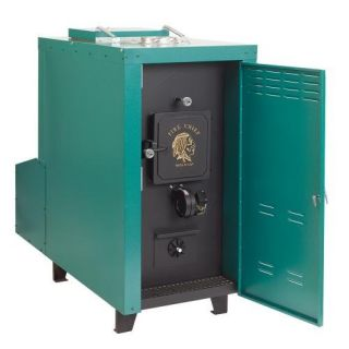 Fire Chief FCOS1800D 140,000 BTU Outdoor Wood/Coal Burning Forced Air Furnace Heating, Cooling, & Air Quality