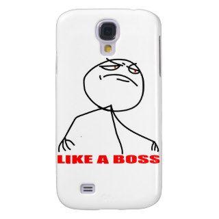 Like a boss meme face samsung galaxy s4 cases