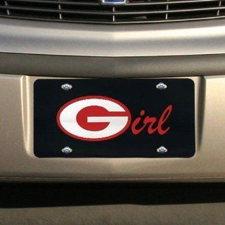NCAA Georgia Bulldogs Black Mirrored UGA Girl License Plate  Sports Related Tailgater Mats  Sports & Outdoors