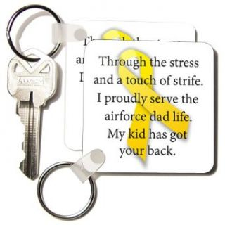 EvaDane   Parenthood   Air Force Dad. Support our troops.   Key Chains   set of 2 Key Chains: Clothing