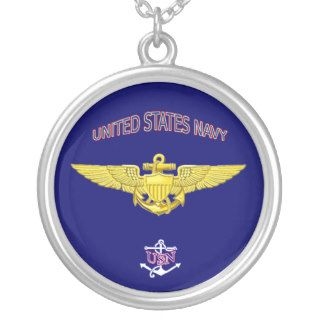 Navy Pilot Wings Necklace