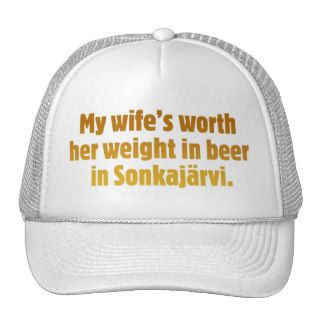 Beer Husband White Cap Trucker Hat