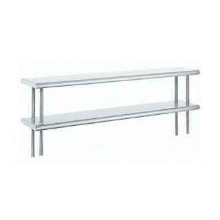 "Advance Tabco ODS 10 132R 10"" X 132"" Table Rear Mounted Double Deck Stainless Steel Shelving Unit Industrial & Scientific"