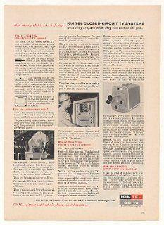 1961 Kin Tel Closed Circuit TV System Print Ad