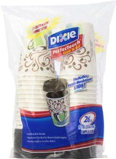 Dixie Perfectouch Paper Cups and Lids, Pack of 6   156 count Health & Personal Care