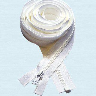 "180"" Zipper ~ Long Arm Quilting Machine Zipper ~ YKK #5 Molded Plastic ~ Separating   White (1 Zipper)"