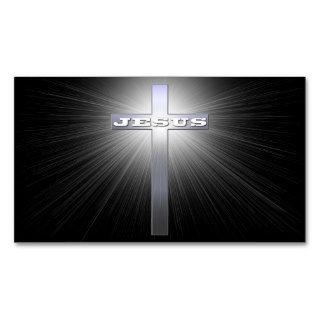 Cruz de Jesús con la luz Plantilla De Tarjeta De Negocio de