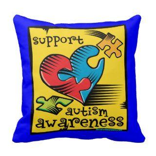 Support Autism Awareness Throw Pillow