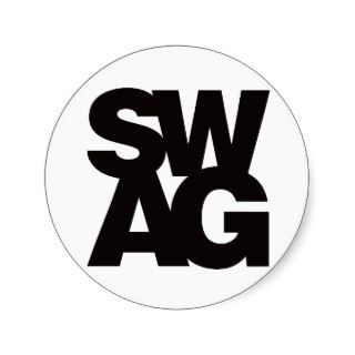 Swag   Black Round Sticker