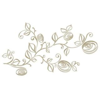 RoomMates 5 in. x 1 in. Stylized Roses Peel and Stick Wall Decals RMK2434SCS