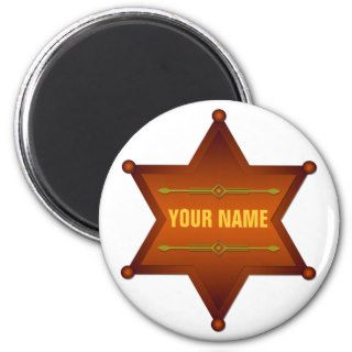 Blank Sheriff / Marshal badge Refrigerator Magnets