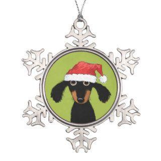 Funny Dachshund Santa   Wiener Dog Christmas Ornaments