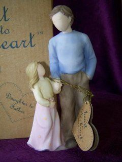 Heart to Heart Father and Daughter Figurine   Collectible Figurines