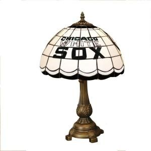 The Memory Company MLB Chicago White Sox Stained Glass Tiffany Table Lamp MLB CWS 500