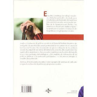 Analisis y evaluacion de politicas sociales / Analysis and evaluation of social policies (Spanish Edition) Antonio Trinidad Requena, Margarita Perez Sanchez 9788430951147 Books