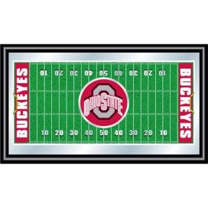 Trademark Ohio State Football 15 in. x 26 in. Black Wood Framed Mirror LRG1500FF OSU