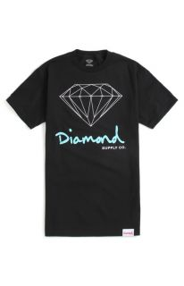 Mens Diamond Supply Co T Shirts   Diamond Supply Co Script Logo T Shirt