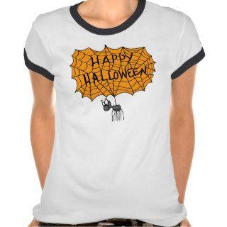 Happy Halloween spider web T shirt
