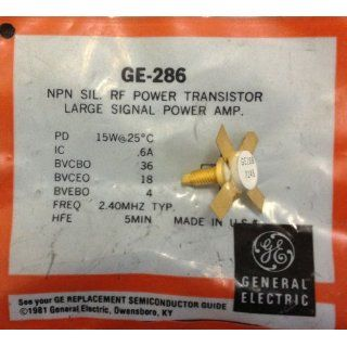 GE 286 NPN Silicon RF Power Transistor Large Signal Power Amp 15W: Industrial Products: Industrial & Scientific