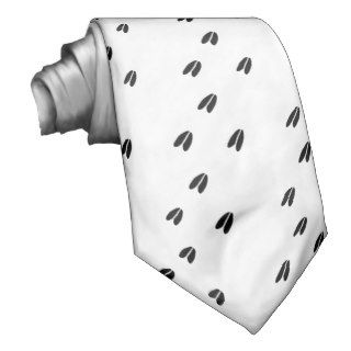 White Tail Deer Tracks Custom Ties
