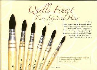 Dynasty� Pure Squirrel Quills Series 303   Size 2  Artists Quill Paintbrushes