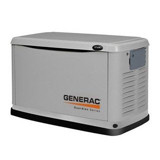 Generac 6249 17, 000 Watt Air Cooled Aluminum Enclosure Liquid Propane/Natural Gas Powered Standby Generator (CARB Compliant) without a Transfer Switch  Generator Accessories  Patio, Lawn & Garden